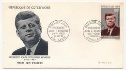Côte D'Ivoire => Enveloppe FDC - Président John F. Kennedy - 1964 - ABIDJAN - Ivory Coast (1960-...)
