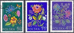 Poland 1974 - Mi 2309/10 - YT 2151/53 ( Embroideries : Flowers ) Complete Set - 1944-.... République
