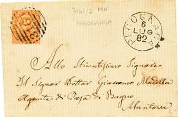 1882 PEGOGNANGA MANTOVA  CERCHIO + NUMERALE A SBARRE - 1878-00 Humbert I