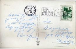 """Yugoslavia -Belgrade 1961 Slogan / Flamme ,,horse Lottery"""" - 1945-1992 République Fédérative Populaire De Yougoslavie"""