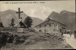 Cp Kanton Wallis, Le Sommet Du Col De La Forclaz - VS Valais
