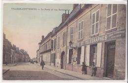 CPA De Villers Cotterets, La Poste Et Rue Demoustier Bureau De Poste - Villers Cotterets