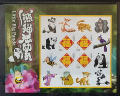 3D Animation Film By China And Germany,China 2010 Little Big Panda Personalization Self-adhesive Souvenir Sheet - Cinema
