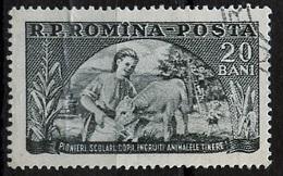 Roumanie - Rumänien - Romania 1954 Y&T N°1347 - Michel N°1474 (o) - 20b Organisation Des Jeunes Pionniers - Gebraucht
