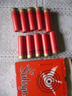 Boite  10 Cartouches  LA SOLOGNE  - Calibre 12 - Pour Collection - Vers 1963 - Armi Da Collezione