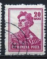 Roumanie - Rumänien - Romania 1955-56 Y&T N°1385 - Michel N°1503 (o) - 20b Mineur - Gebraucht