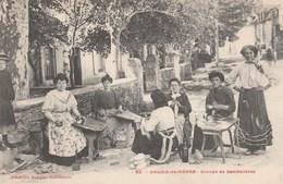 CPA - Groupe De Sandalières ( Carte Pas Commune) - Saliès De Béarn - - Artisanat