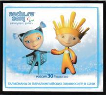 Russia 2014 Sochi Olympic Games Mascots Souvenir Sheet MNH/** (H59A) - Winter 2014: Sotschi
