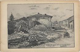 CPA - VAUBECOURT - Entrée De La Rue De Bourgogne - 2 Mai 1916 (L. Gillot) - Autres Communes