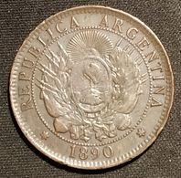 ARGENTINE - DOS CENTAVOS 1890 - Bronze - KM 33 - Argentine