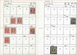 Lot Voorafgestempeld LUTTRE Met  ALBERT I / HOUYOUX En HERALDIEKE LEEUW ; Staat Zie 2 Scans ! LOT 147 - Roller Precancels 1920-29
