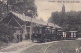 Tervueren Station Des Tramways Bruxellois Circulée En 1910 - Tervuren