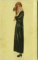 NANNI SIGNED 1910s POSTCARD - WOMAN & DOG - N.300/2 ( BG816) - Nanni