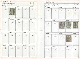 Lot Voorafgestempeld MAESEYCK Met RIJKSWAPEN , PELLENS / ALBERT I En HOUYOUX  ; Staat Zie 4 Scans ! LOT 129 - Rollo De Sellos 1900-09