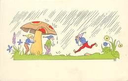 LUTINS ET CHAMPIGNONS Sous La Pluie. - Autres
