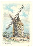 Cpsm Barre Dayez BD2149 R - Fontvieille, Environs D'Arles - Le Moulin De Daudet ( Chèvre ) - Illustrators & Photographers