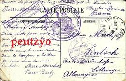 """CPA Prisonnier De Guerre """"dépot Du Fort De Lourdes*le C..dant"""" Et """"visé à Lourdes Fentsch      C6/57 - Military Postmarks From 1900 (out Of Wars Periods)"""