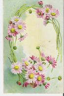 MARGUERITES. CPA Gauffrée Voyagée En 1905 Gerbe De Marguerites - Flowers
