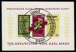 Block 27 Karl Marx 1968 Mit Tagesstempel - DDR