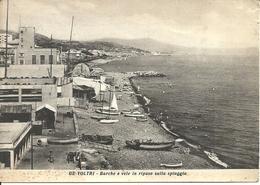 Genova Voltri (Liguria) Barche E Vele In Riposo Sulla Spiaggia - Genova (Genua)