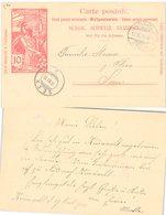 CARTE SUISSE. ENTIER UPU 10c. 13 11 1900. KÜSNACHT POUR SEEN - 1882-1906 Armoiries, Helvetia Debout & UPU