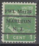 USA Precancel Vorausentwertung Preo, Locals New Jersey, Marlton L-6 ITS - Vereinigte Staaten