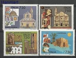 Italy 1996 Mi 2436-2439 MNH ( ZE2 ITA2436-2439 ) - Bäume