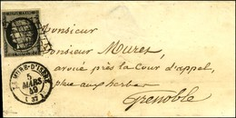 Grille / N° 3 Càd T 15 LA MURE-D'ISERE (37). 1849. - SUP. - Poststempel (Briefe)