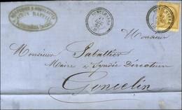 Càd T 22 PONTCHARRA (37) / N° 21. 1864. - TB / SUP. - Poststempel (Briefe)