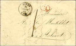 Càd T 15 RIVES (37) 21 JANV. 49 + CL Rouge Taxe 1. - TB / SUP. - Poststempel (Briefe)