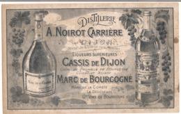 Buvard : Distilerie ( A.Noirot Carrière ) Liqueurs Cassis De Dijon - Crème De Prunelle - Guignolet - Marc De Bourgogne - Liqueur & Bière