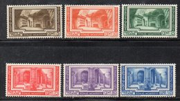 Q201B - VATICANO 1938 , Sassone Serie N. 55/60  *  Linguella (M2200).  ARCHEOLOGIA - Nuovi
