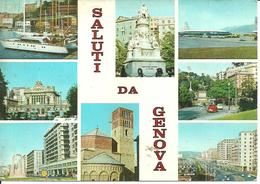 Genova (Liguria) Vedute: Porto, Monumento A C. Colombo, Grattacieli E Aeroporto - Genova (Genoa)