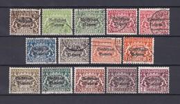 Bayern - 1919 - Dienstmarken - Michel Nr. 30/43 - Gest. - 550 Euro - Bavaria