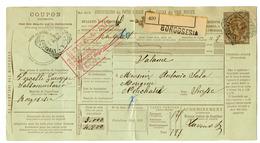 Italy Postal Stationery Parcel Card 1905 Borgosesia To Neuchatel 200220 - 1900-44 Vittorio Emanuele III