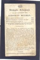 Ludovicus Meysman. Priester. Overleden Te Westcapelle 1857 In Den Ouderdom Van 36 Jaar. - Devotieprenten