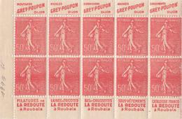 France - Carnet 199g-  Semeuse 50c Lignée, Grey-Poupon, La Redoute,.. En Deux Parties - Booklets