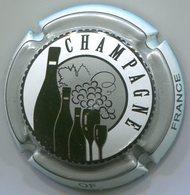 CAPSULE-1029 -CHAMPAGNE-Série Product Of France Blanc, Argent Et Noir - Champagne