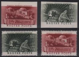 AST 33 - HONGRIE N° 1068/69 Dentelés + Non-dentelés Neufs** Thème Construction Du Métro - Hongrie