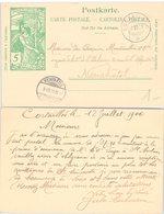 CARTE SUISSE. ENTIER UPU 5c. 9 8 1900. CORTAILLOD POUR NEUCHÂTEL - 1882-1906 Armoiries, Helvetia Debout & UPU