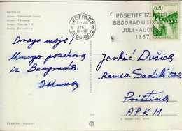 "Yugoslavia - Belgrade  1967 Slogan / Flamme ,,exhibition Belgrade In The XIX Century"" - 1945-1992 République Fédérative Populaire De Yougoslavie"