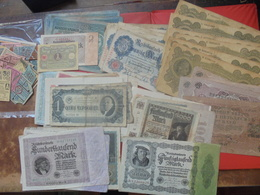 VRAC DE 80 BILLETS ANCIENS (+DIVERS NON COMPTER) (B.1) - Coins & Banknotes