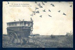 Cpa Du 56 Camp De Coëtquidan Poste Colombophile -- Rentrée Du Vol    DEC19-45 - Guer Coetquidan