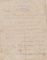 Programme Jeux Du 14 Juillet 1916 - Régiment D'infanterie - Documentos