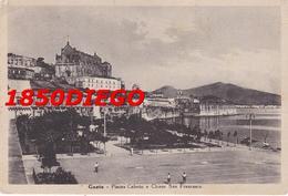 GAETA - PIAZZA CABOTO E CHIESA SAN FRANCESCO F/GRANDE VIAGGIATA 1948 ANIMATA - Latina
