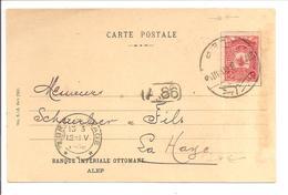 ALEP SYRIE Ottoman Turkey 27.2.1908 Banque Impériale Ottomane>Nederland - Syria