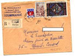 Lettre Recommandée Joinville Sur Sens Bourges - Marcophilie (Lettres)