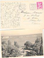 CARTE SUISSE. 6 10 1932. GENEVE  JARDIN ANGLAIS ET LA RADE. GENEVE SEMAINE SUISSE - Schweiz