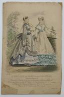 France Vintage 1867 Drawing (Le Conseiller Des Dames Et Des Demoiselles) - Lithographies