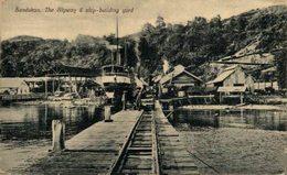MALASIA // MALAYSIA. SANDAKAN, THE SLIPWAY & SHIP-BUILDING YARD - Malasia